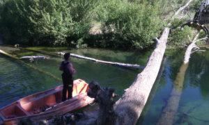 embâcle / rivière encombrée