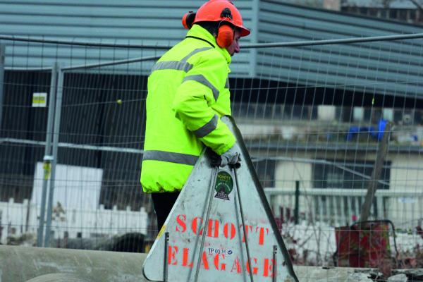 mise en sécurité du chantier