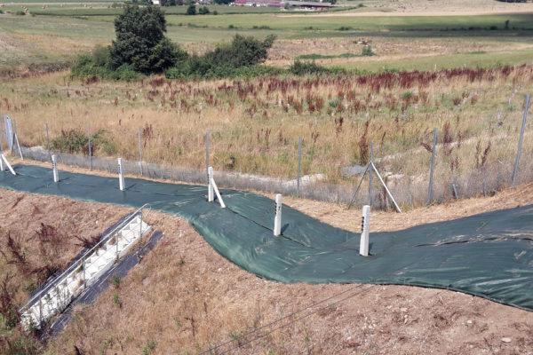 bâches paysagères de protection aux abords d'infrastructure LGV