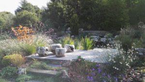 terrasse et bassin paysager